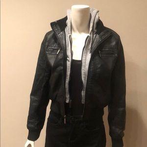 Rue 21 Faux Leather Coat: M
